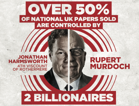 Over 50% of UK Media owned by j2 Billionaires