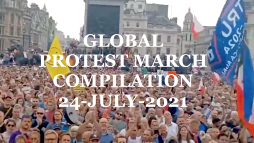 Anti-Vax-Passport Protest March Compilation 24-7-2021